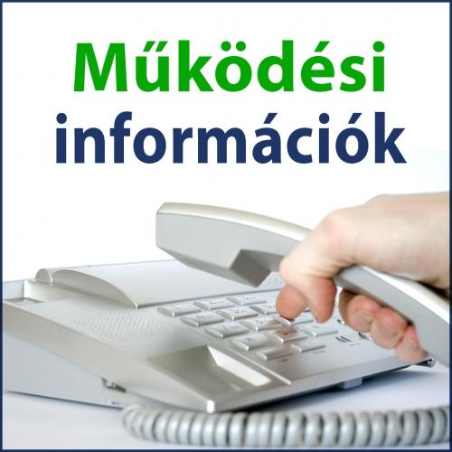 Működési információk